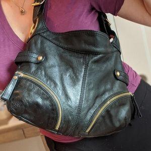 STEVE MADDEN Black Leather Shoulder Bag